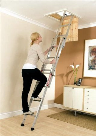 Youngman Easiway Aluminium 3-Section Loft Ladder ( Attic Ladder)