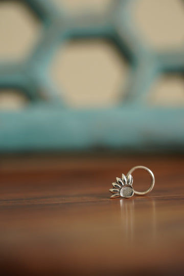 FLORA NOSE PIN (925 SILVER) - BAUBLE LOVE