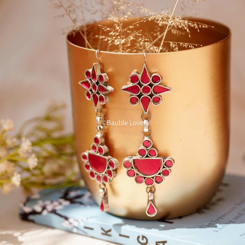 TUHINA PINK EARRINGS