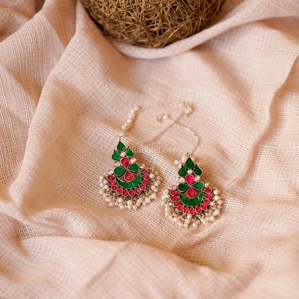 VARA KUNDAN EARRINGS (925) - BAUBLE LOVE