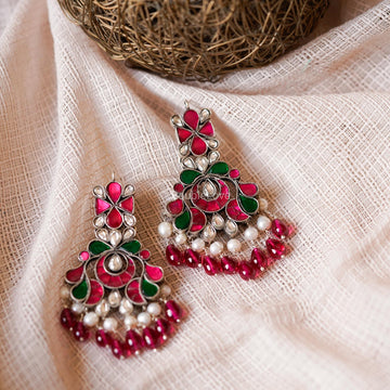 CHITRA KUNDAN EARRINGS (925) - BAUBLE LOVE