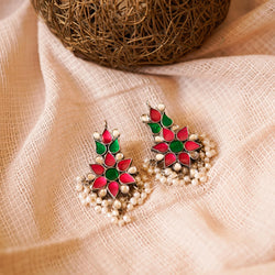 VATSALA KINDAN EARRINGS (925) - BAUBLE LOVE