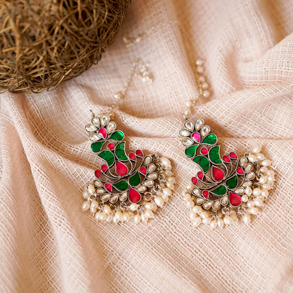 INDIRA KUNDAN EARRINGS (925) - BAUBLE LOVE