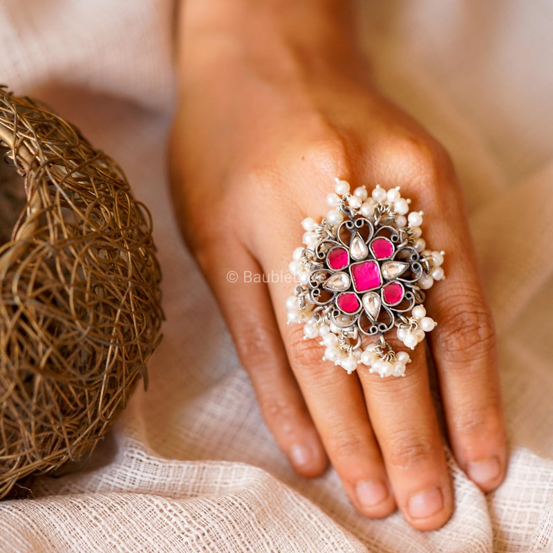 RIASA KUNDAN RING (925) - BAUBLE LOVE