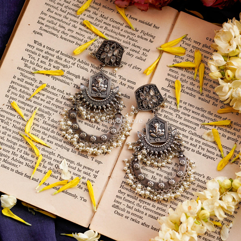 GANESHA STATEMENT EARRINGS