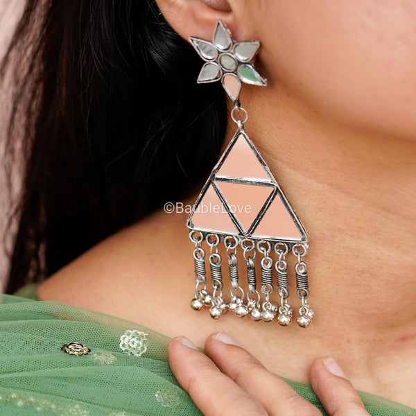 TRIKON MIRROR EARRINGS