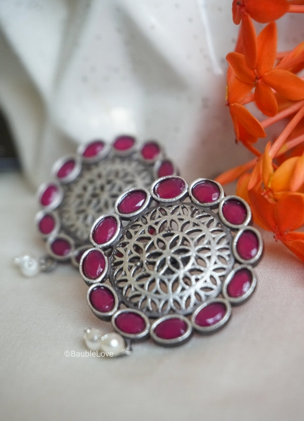 PINK BALI STUDS - BAUBLE LOVE