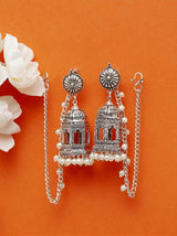 JHUMKI WHITE EARRINGS