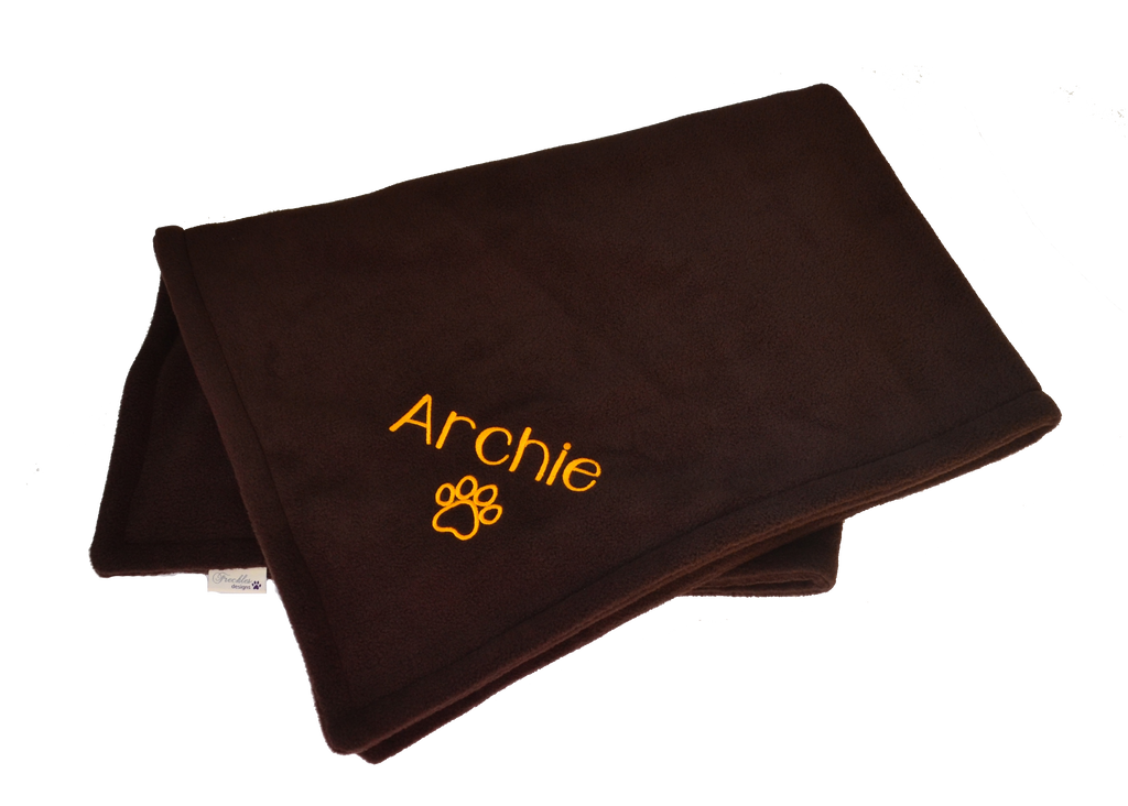 PERSONALISED FLEECE DOG BLANKET