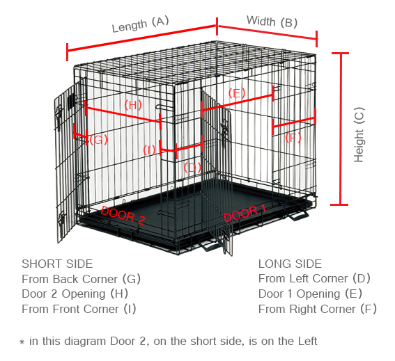 Dog Crate Cover Classic Two Door Freckles Designs