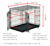 DOG CRATE COVER - CLASSIC (TWO DOOR)