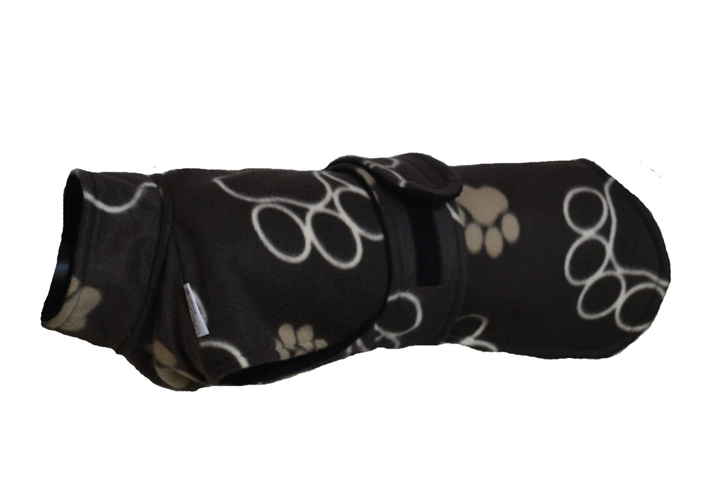 Ness Drying Coat - Brown Pawprint (Small)
