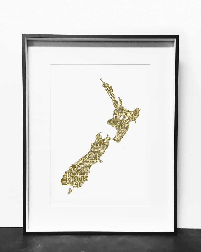 New Zealand Print Gold