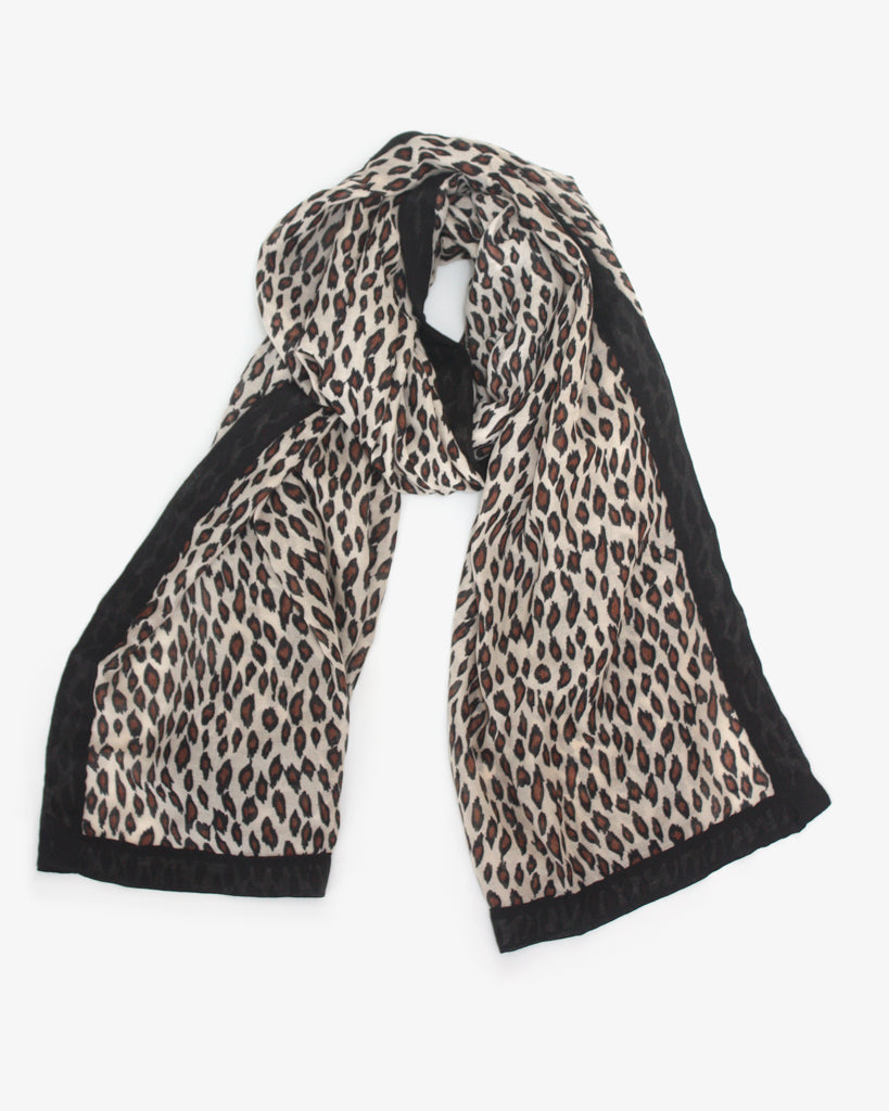 Natural Leopard Scarf