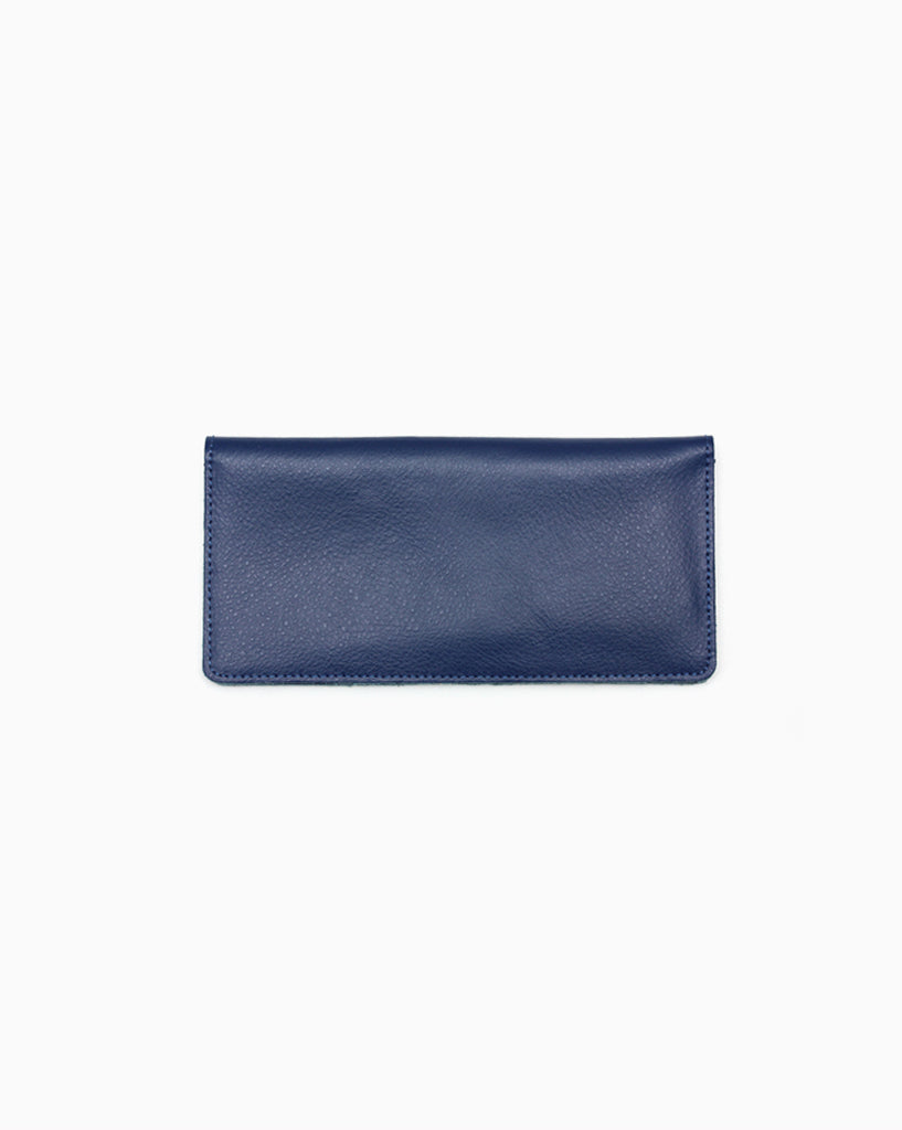 Minimalist Long Blue Wallet