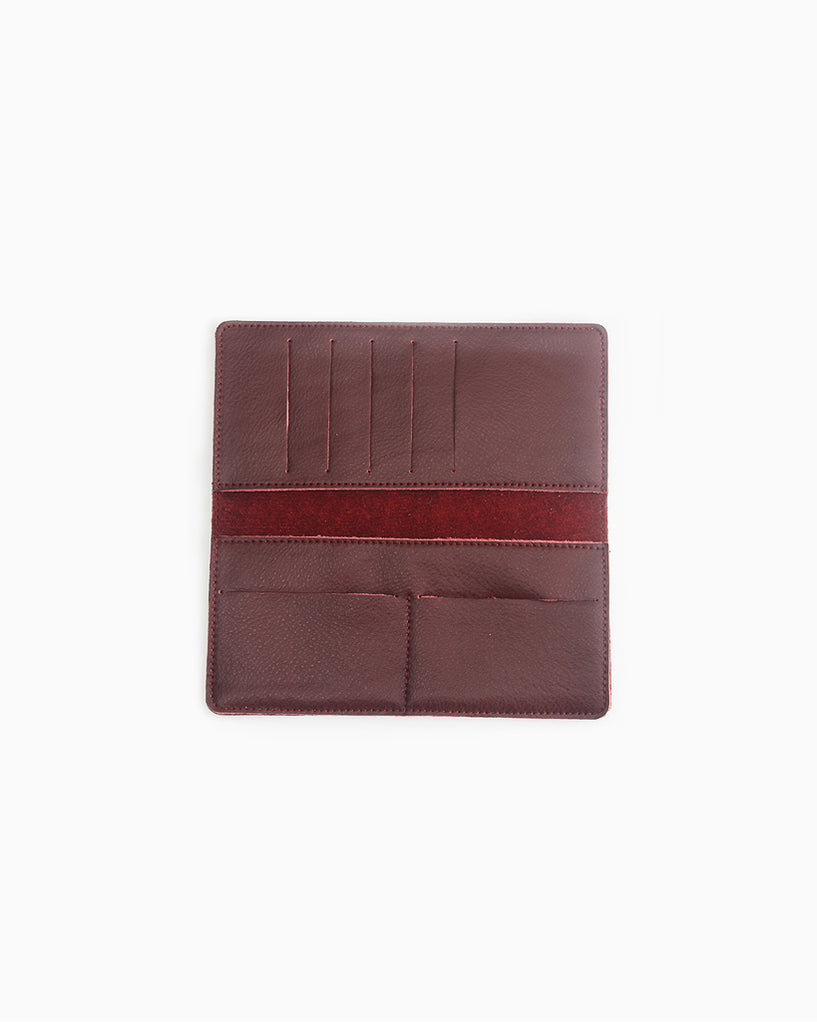 Minimalist Long Red Wallet