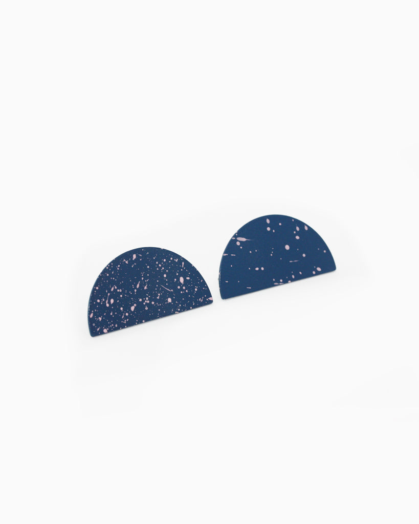 Half Moon Speckled Earrings