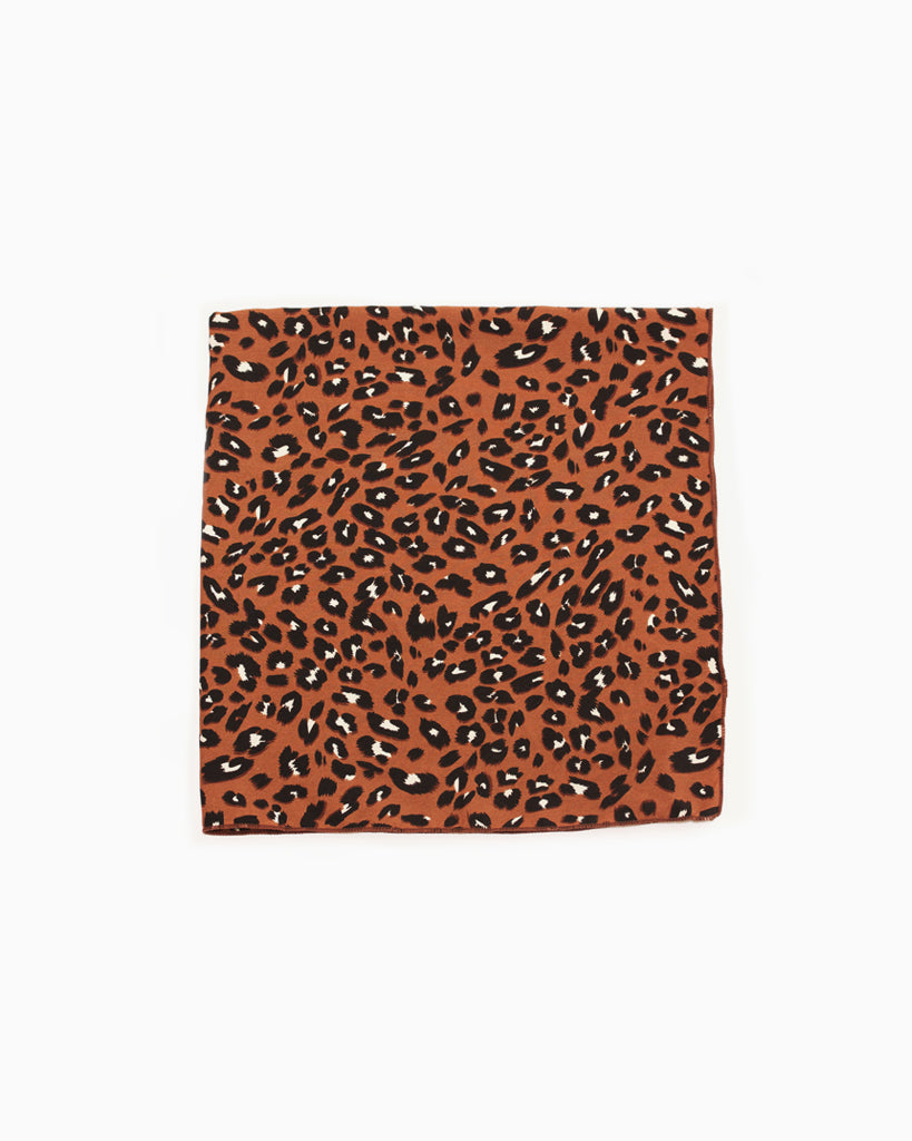 Tan Mini Leopard Scarf