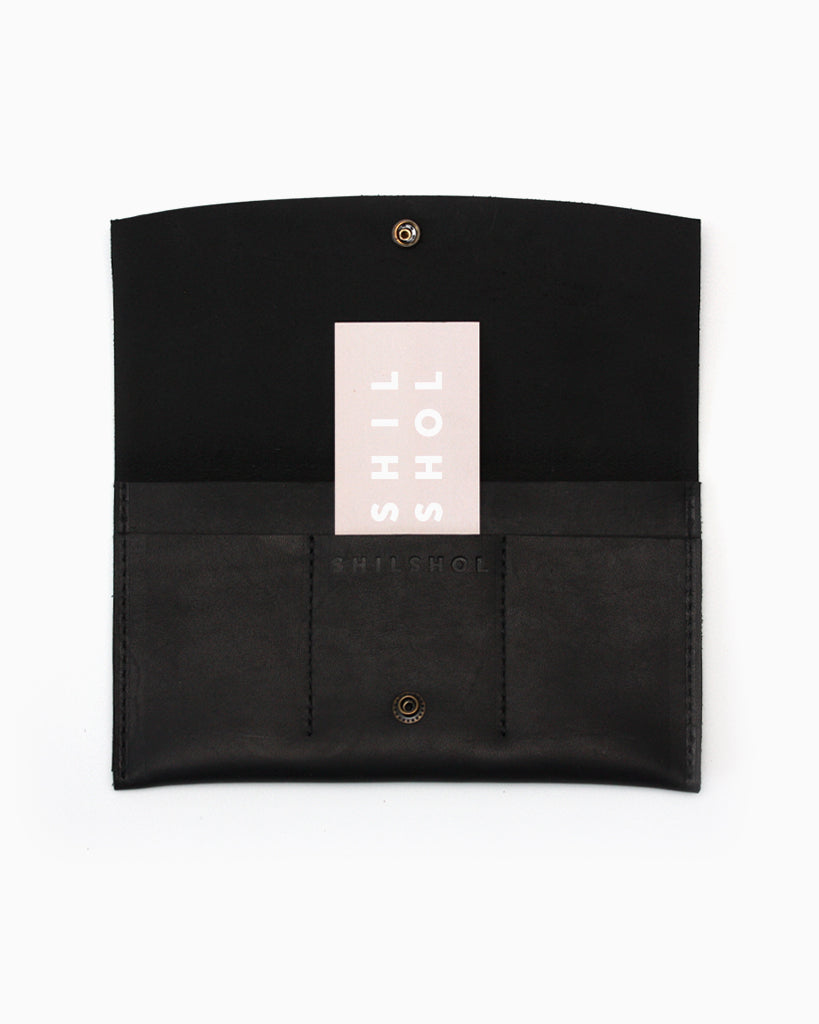 Minimalist Wallet Black Leather