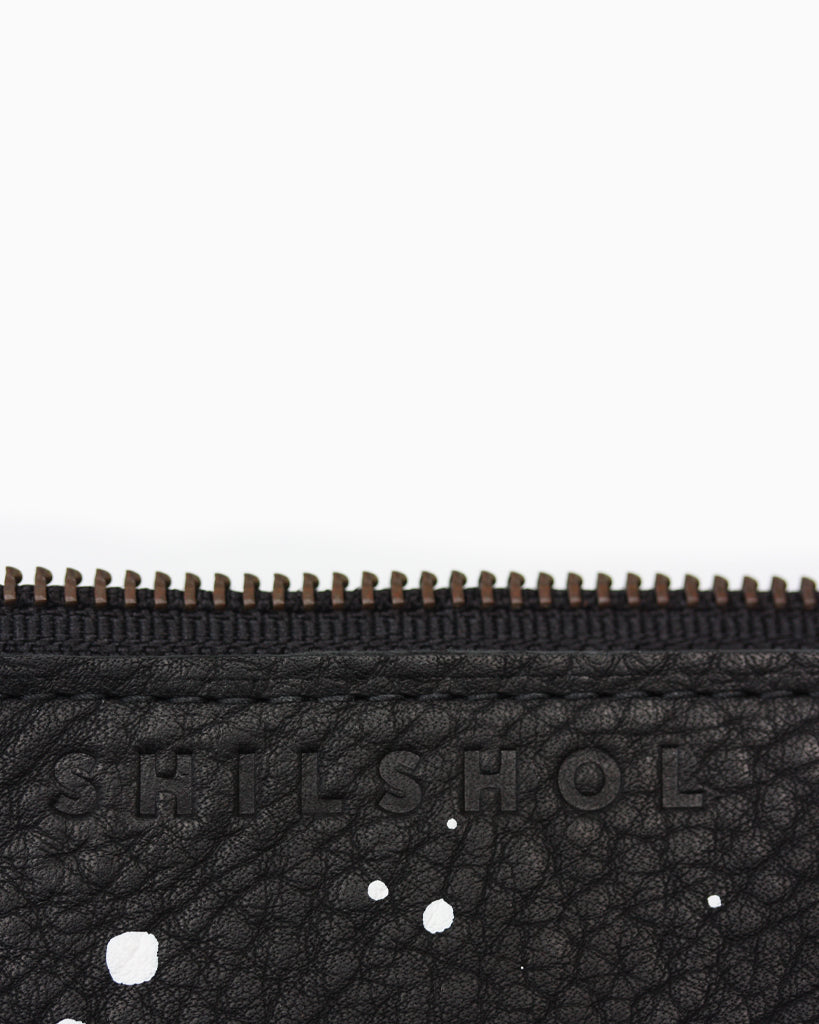 Speckled Leather Zipper Bag