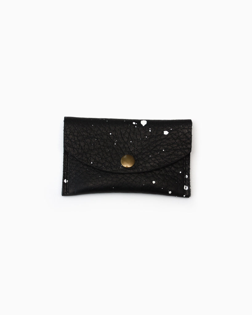 Mini Speckled Snap Wallet