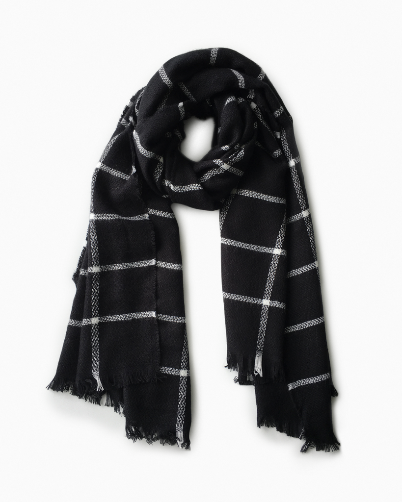 The Black and White Check Scarf
