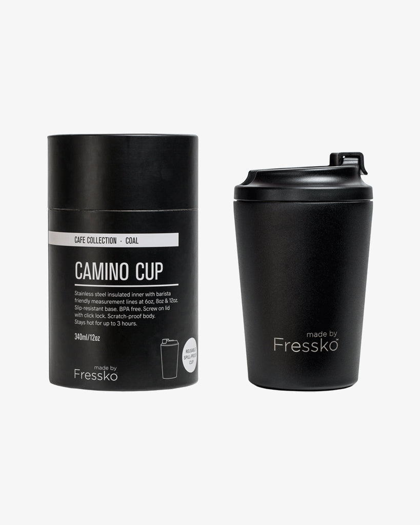 Camino Reusable Coffee Cup 340ml Coal