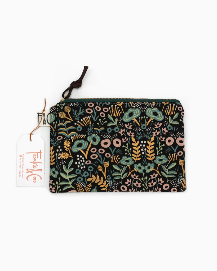 Pacific Pouch Midnight Metallic Garden