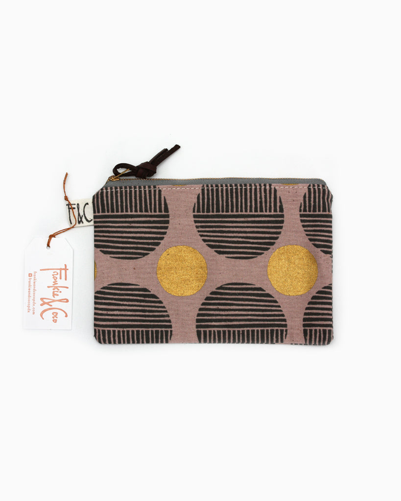 Pacific Pouch Rose Gold Woodblock