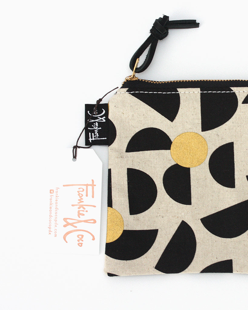 Pacific Pouch Half Moon Black and Gold