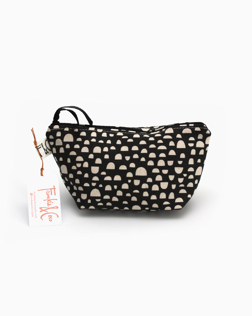 Tabor Cosmetic Accessory Bag in Half Moons
