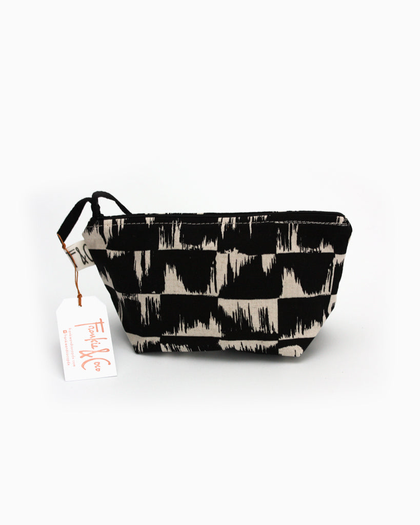 Tabor Cosmetic Accessory Bag in Obsidian Brush Canvas
