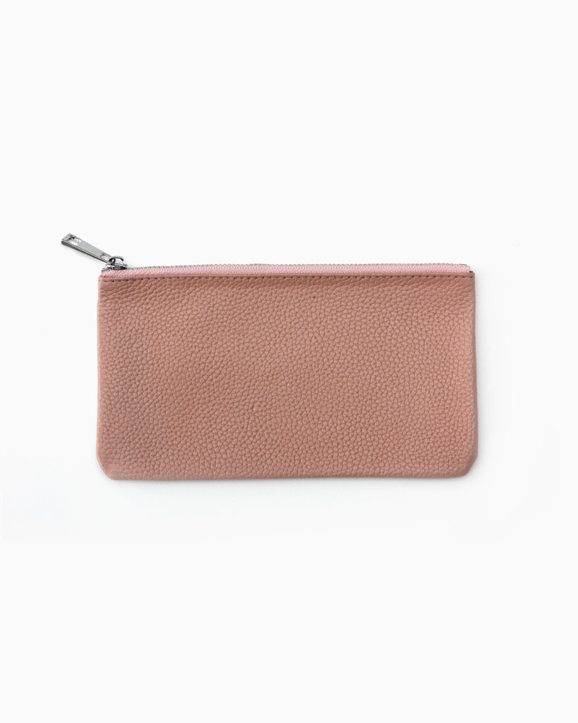 Simple zip purse pink