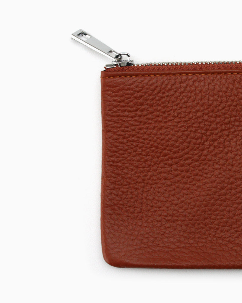 Simple Zip Purse Tan