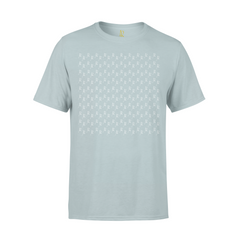 All Over Print Short Sleeve Tee - Pale Blue