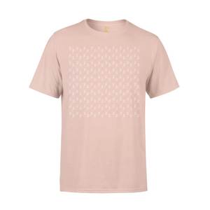 All Over Print Short Sleeve Tee - Pale Pink