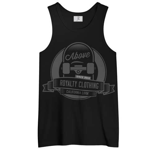 Cali Livin Men's Tank Top Shirt - Black