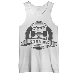 Cali Livin Men's Tank Top Shirt  - White