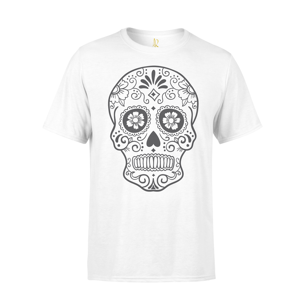 Cinco Skull Short Sleeve Tee - White