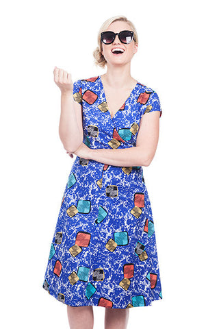RETRO WRAP DRESS