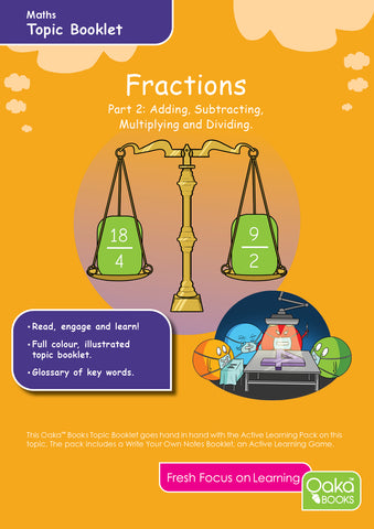 Maths Fractions 2: Adding, Subtracting, Multiplying and Dividing Fractions