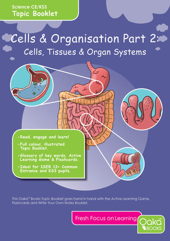 CE/KS3: Science: Biology: Cells & Organisation: Cells, Tissues & Organ Systems (Part 2)