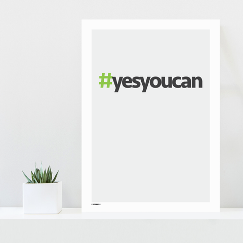 Grafisk plakat - graphic design poster - yes you can - posterboy.dk