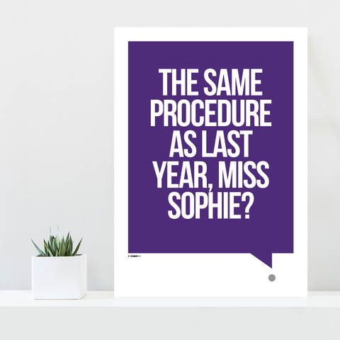 Grafisk plakat - graphic design poster - purple quote - miss sophie - posterboy.dk