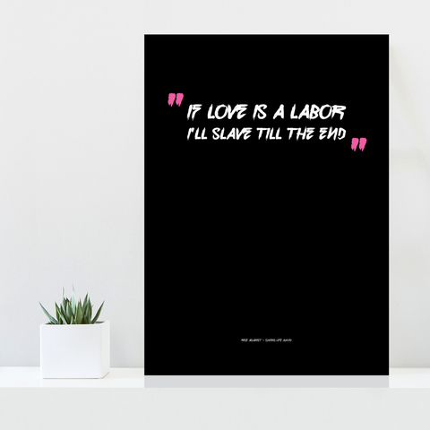 Grafisk plakat - graphic design poster - Rise Against lyrics - posterboy.dk