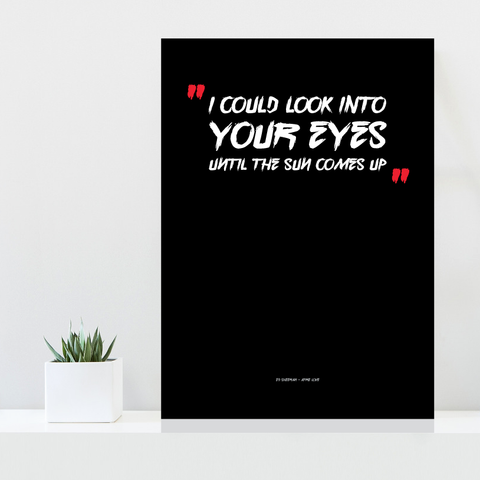 Grafisk plakat - graphic design poster - Ed Sheeran lyrics - posterboy.dk