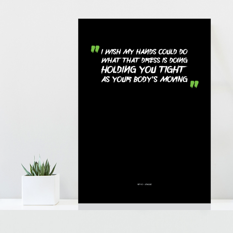 Grafisk plakat - graphic design poster - Ne-Yo lyrics - posterboy.dk