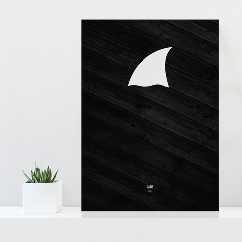 Grafisk plakat - graphic design poster - movie - jaws - posterboy.dk