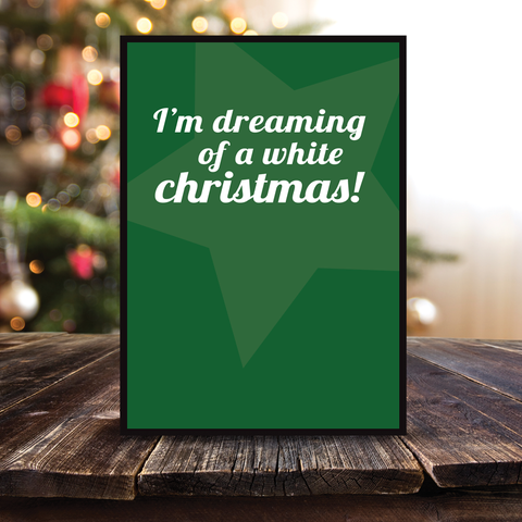 Grafisk plakat - graphic design poster - dreaming of a white christmas - posterboy.dk