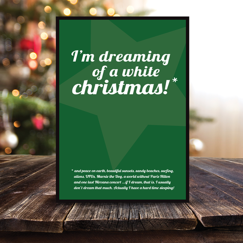 Grafisk plakat - graphic design poster - dreaming of a white christmas star - posterboy.dk
